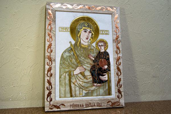 Икона Минская Богородица под № 1-12-1 из мрамора, изображение, фото для каталога икон 4