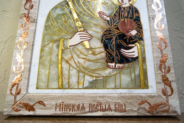 Икона Минская Богородица под № 1-12-1 из мрамора, изображение, фото для каталога икон 5