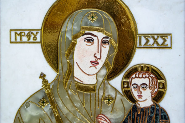 Икона Минская Богородица под № 1-12-1 из мрамора, изображение, фото для каталога икон 6
