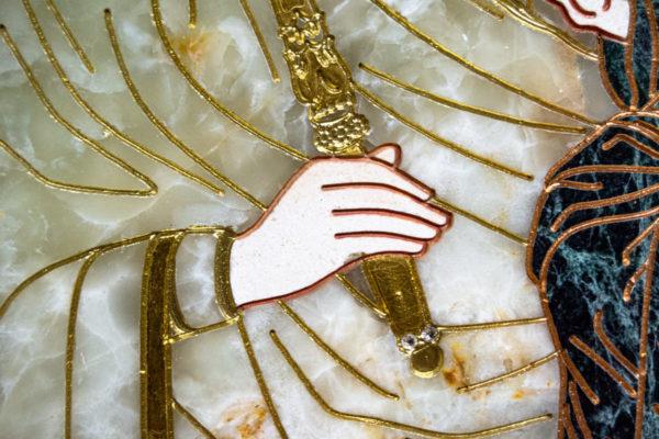Икона Минская Богородица под № 1-12-1 из мрамора, изображение, фото для каталога икон 10