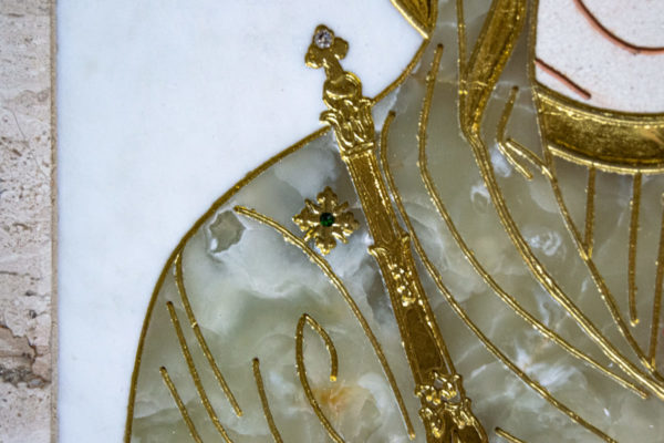 Икона Минская Богородица под № 1-12-1 из мрамора, изображение, фото для каталога икон 11