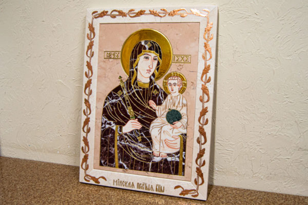 Икона Минская Богородица под № 1-12-5 из мрамора, изображение, фото для каталога икон 1