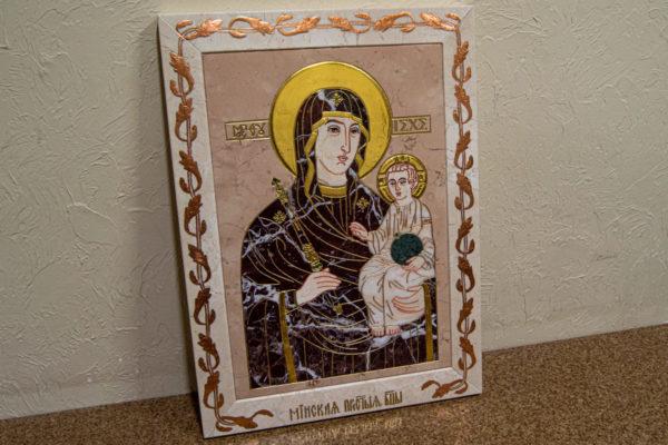 Икона Минская Богородица под № 1-12-5 из мрамора, изображение, фото для каталога икон 2