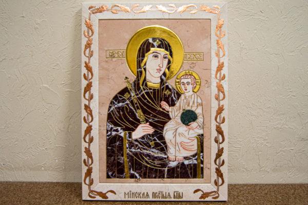 Икона Минская Богородица под № 1-12-5 из мрамора, изображение, фото для каталога икон 3