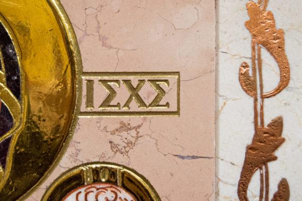 Икона Минская Богородица под № 1-12-5 из мрамора, изображение, фото для каталога икон 4