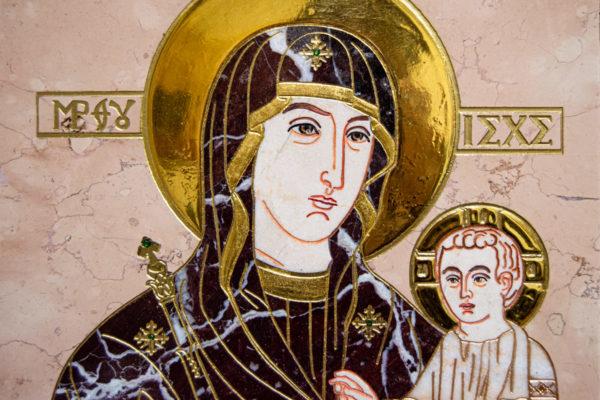 Икона Минская Богородица под № 1-12-5 из мрамора, изображение, фото для каталога икон 5