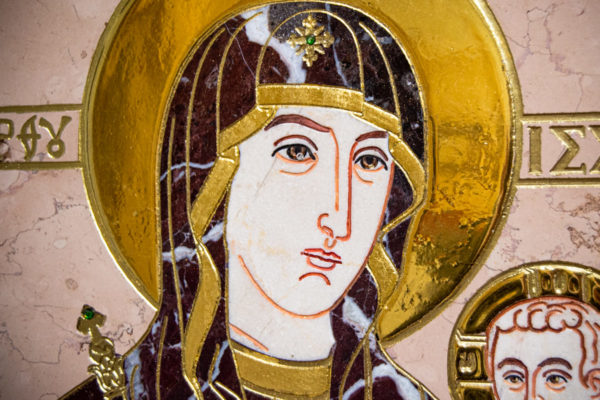 Икона Минская Богородица под № 1-12-5 из мрамора, изображение, фото для каталога икон 6