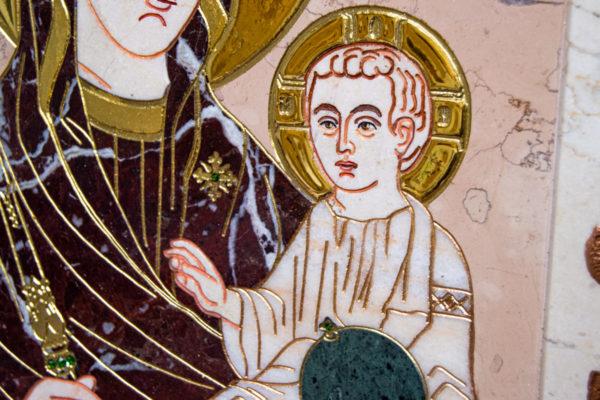 Икона Минская Богородица под № 1-12-5 из мрамора, изображение, фото для каталога икон 7