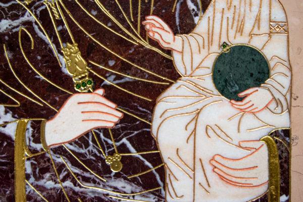 Икона Минская Богородица под № 1-12-5 из мрамора, изображение, фото для каталога икон 10