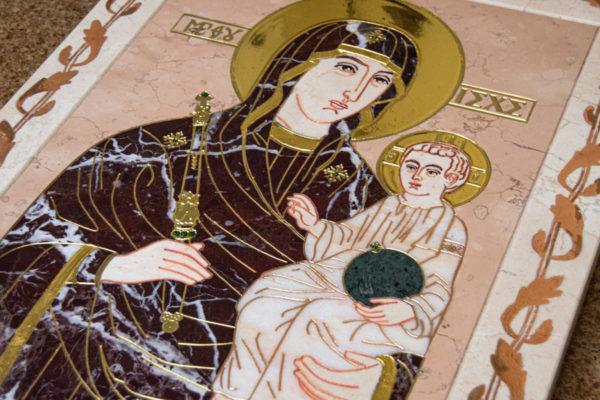 Икона Минская Богородица под № 1-12-5 из мрамора, изображение, фото для каталога икон 12
