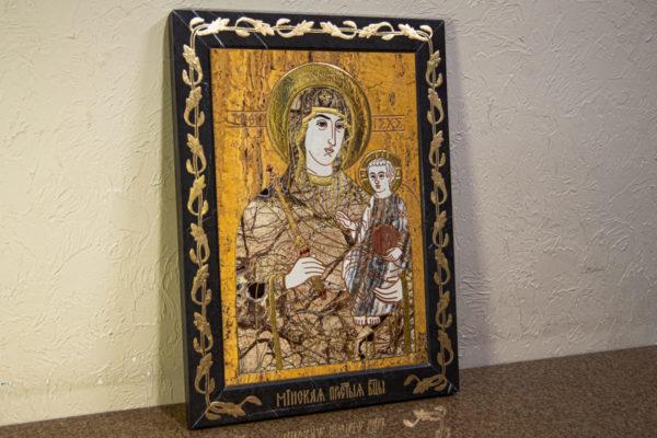 Икона Минская Богородица под № 1-12-12 из мрамора, изображение, фото для каталога икон 2