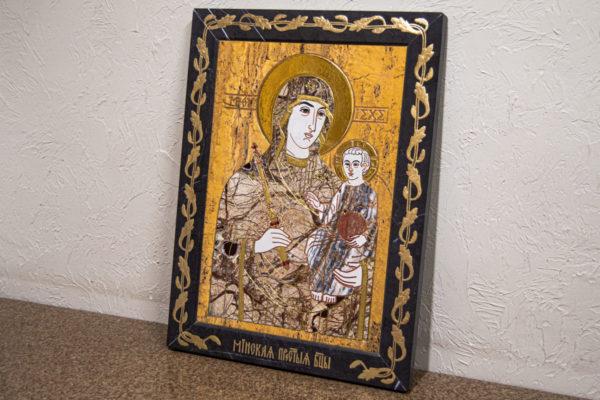 Икона Минская Богородица под № 1-12-12 из мрамора, изображение, фото для каталога икон 3