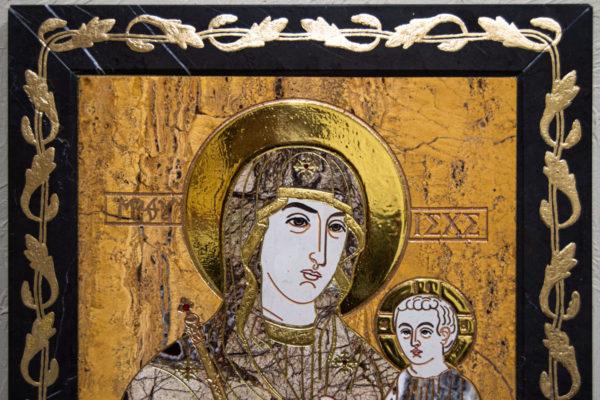 Икона Минская Богородица под № 1-12-12 из мрамора, изображение, фото для каталога икон 4