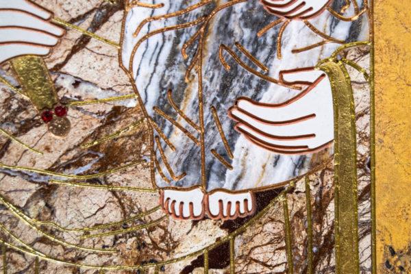 Икона Минская Богородица под № 1-12-12 из мрамора, изображение, фото для каталога икон 5