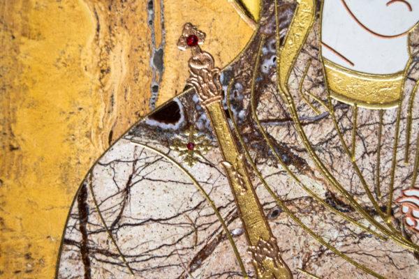 Икона Минская Богородица под № 1-12-12 из мрамора, изображение, фото для каталога икон 6