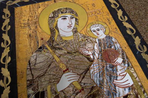 Икона Минская Богородица под № 1-12-12 из мрамора, изображение, фото для каталога икон 11