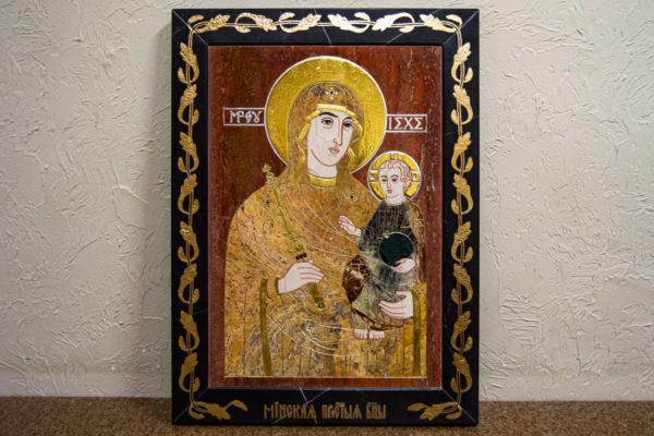 Икона Минская Богородица под № 1-12-3 из мрамора, изображение, фото для каталога икон 1