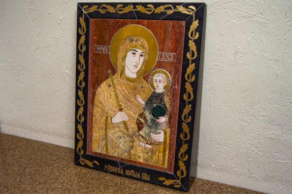 Икона Минская Богородица под № 1-12-3 из мрамора, изображение, фото для каталога икон 2