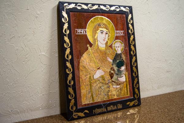Икона Минская Богородица под № 1-12-3 из мрамора, изображение, фото для каталога икон 3