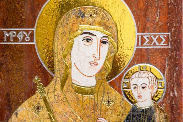 Икона Минская Богородица под № 1-12-3 из мрамора, изображение, фото для каталога икон 4