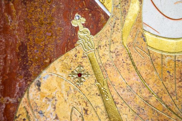 Икона Минская Богородица под № 1-12-3 из мрамора, изображение, фото для каталога икон 6
