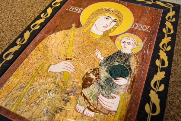 Икона Минская Богородица под № 1-12-3 из мрамора, изображение, фото для каталога икон 11