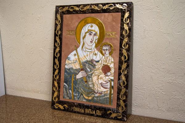 Икона Минская Богородица под № 1-12-11 из мрамора, изображение, фото для каталога икон 2