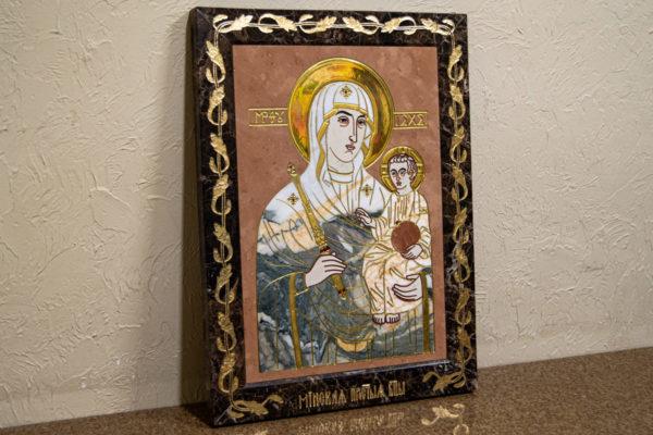 Икона Минская Богородица под № 1-12-11 из мрамора, изображение, фото для каталога икон 3