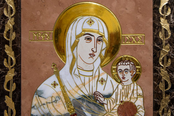 Икона Минская Богородица под № 1-12-11 из мрамора, изображение, фото для каталога икон 4