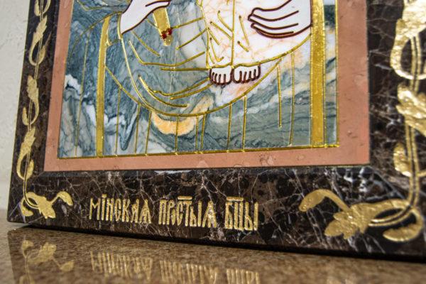 Икона Минская Богородица под № 1-12-11 из мрамора, изображение, фото для каталога икон 6