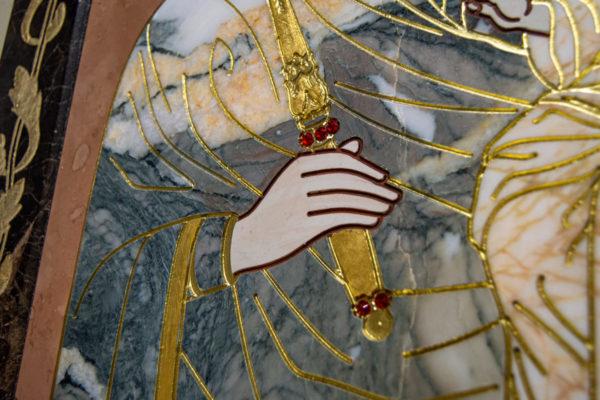Икона Минская Богородица под № 1-12-11 из мрамора, изображение, фото для каталога икон 7