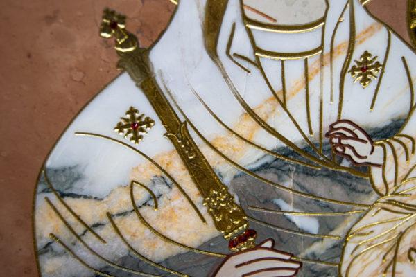Икона Минская Богородица под № 1-12-11 из мрамора, изображение, фото для каталога икон 8