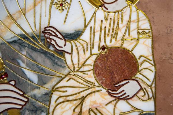 Икона Минская Богородица под № 1-12-11 из мрамора, изображение, фото для каталога икон 9