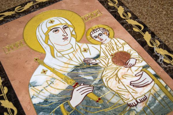 Икона Минская Богородица под № 1-12-11 из мрамора, изображение, фото для каталога икон 12