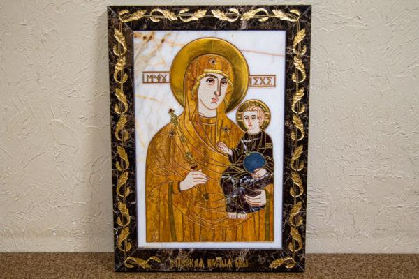 Икона Минская Богородица под № 1-12-10 из мрамора, изображение, фото для каталога икон 1