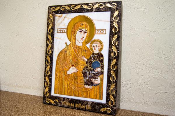 Икона Минская Богородица под № 1-12-10 из мрамора, изображение, фото для каталога икон 3