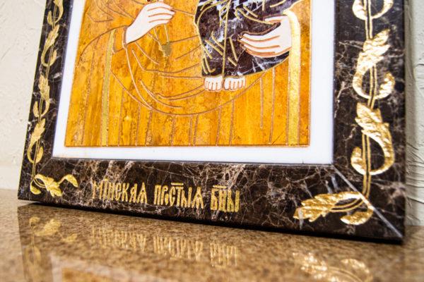 Икона Минская Богородица под № 1-12-10 из мрамора, изображение, фото для каталога икон 4
