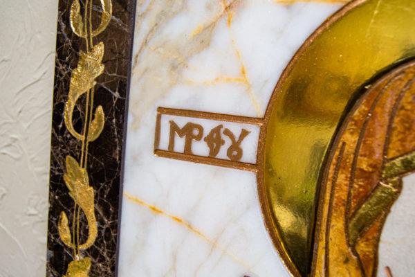 Икона Минская Богородица под № 1-12-10 из мрамора, изображение, фото для каталога икон 5