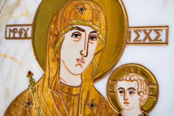 Икона Минская Богородица под № 1-12-10 из мрамора, изображение, фото для каталога икон 6