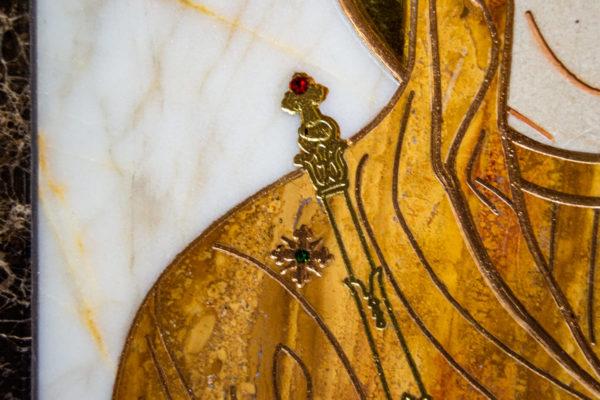 Икона Минская Богородица под № 1-12-10 из мрамора, изображение, фото для каталога икон 7