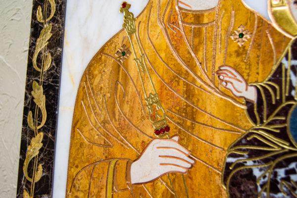 Икона Минская Богородица под № 1-12-10 из мрамора, изображение, фото для каталога икон 8