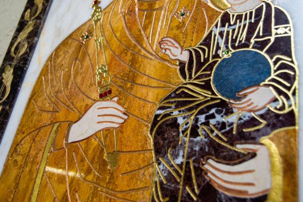 Икона Минская Богородица под № 1-12-10 из мрамора, изображение, фото для каталога икон 9