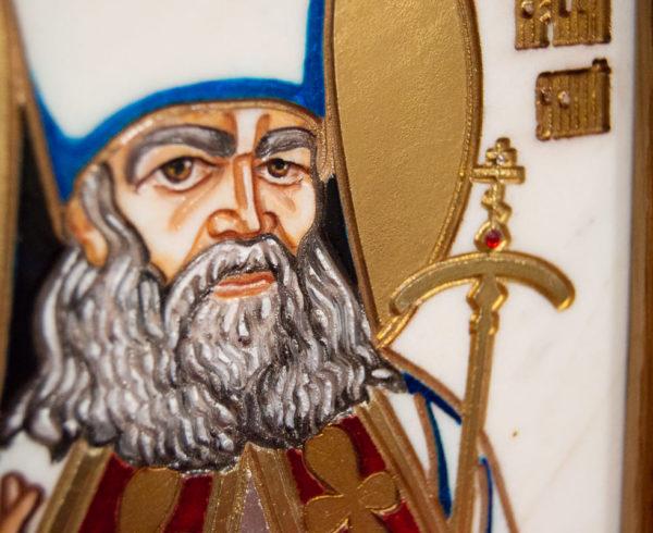 Икона Луки Крымского № 03 из мрамора, камня, каталог икон, фото 4