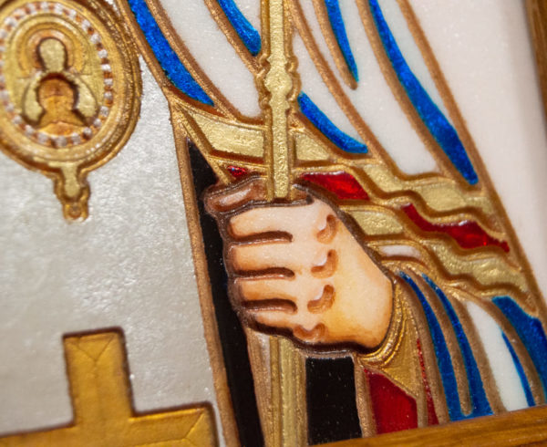 Икона Луки Крымского № 03 из мрамора, камня, каталог икон, фото 7