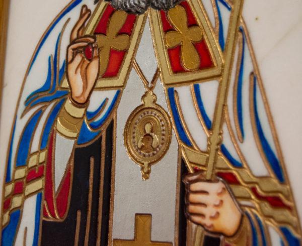 Икона Луки Крымского № 03 из мрамора, камня, каталог икон, фото 8