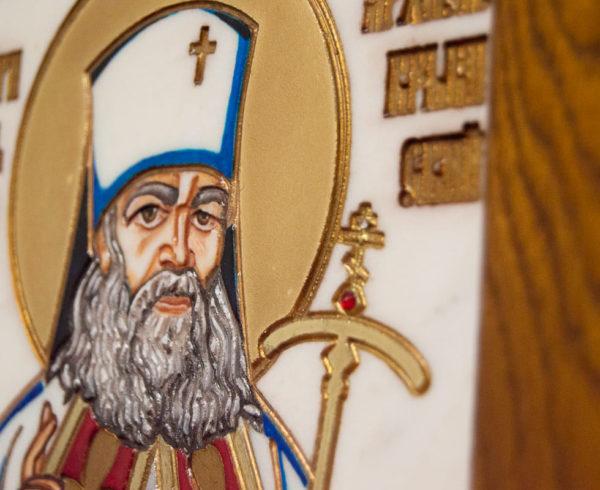 Икона Луки Крымского № 03 из мрамора, камня, каталог икон, фото 9