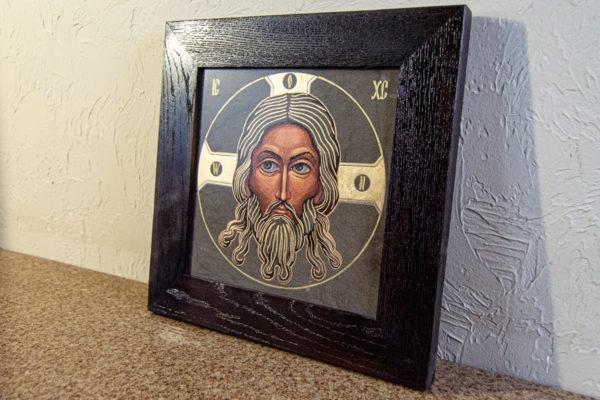 Икона Иисуса Христа - Спас Нерукотворный № 3-4 из мрамора, изображение, фото 3