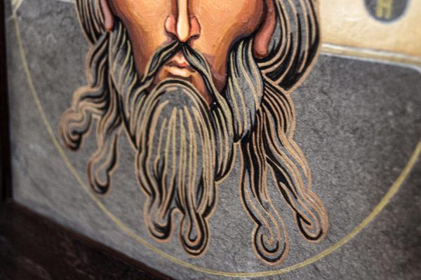 Икона Иисуса Христа - Спас Нерукотворный № 3-4 из мрамора, изображение, фото 4