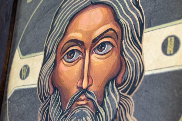 Икона Иисуса Христа - Спас Нерукотворный № 3-4 из мрамора, изображение, фото 6