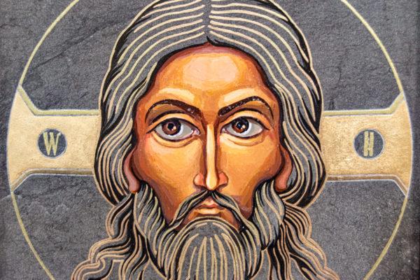 Икона Иисуса Христа - Спас Нерукотворный № 3-4 из мрамора, изображение, фото 7